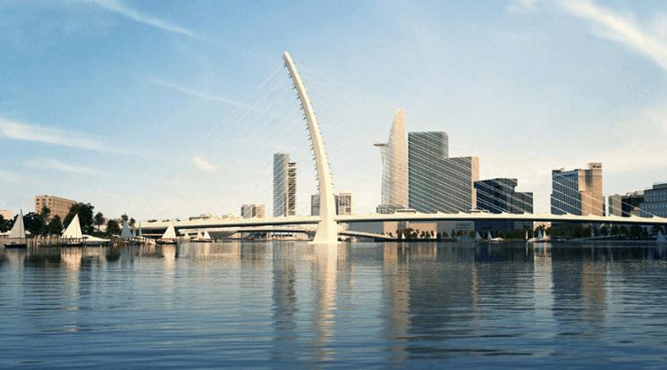 Cầu Thủ Thiêm 2 là điểm sáng bên sông Sài Gòn (Ảnh ST)