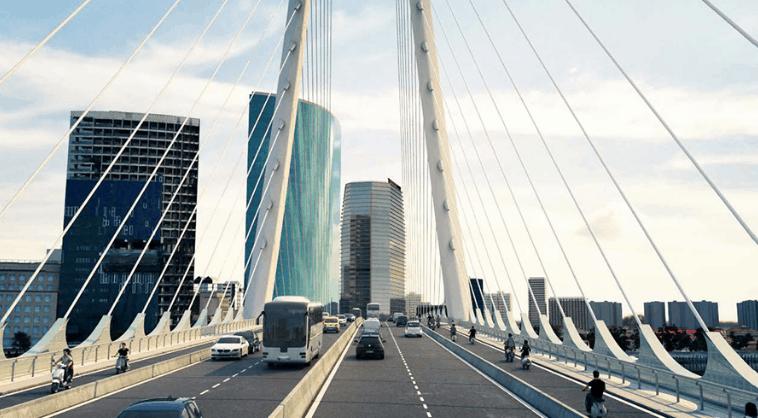 Cây Cầu Thủ Thiêm 2 mô phỏng (Ảnh ST)