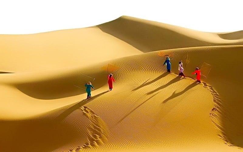 Đồi cát Phương Mai với những cồn cát trải dài (Ảnh sưu tầm)