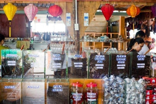 Các loại cà phê được bán ở Mê Linh Coffee Garden