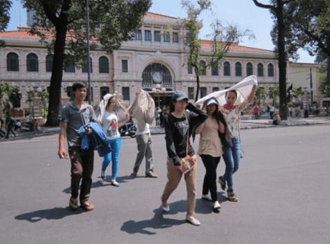Sài Gòn trong những ngày nắng gay gắt (Ảnh ST)