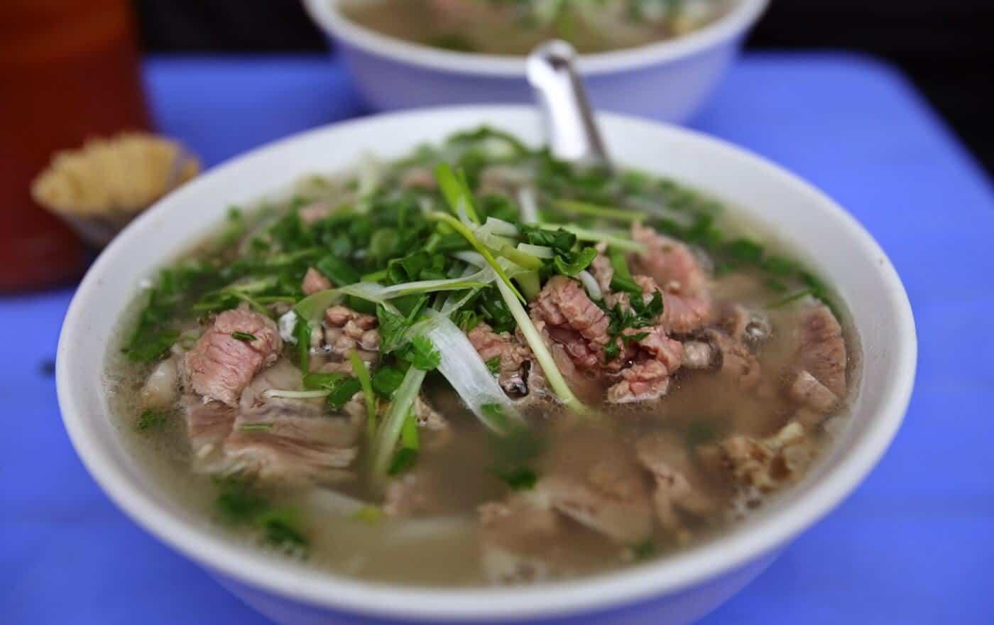 Phở Bát Đàn - món ăn sáng không thể thiếu của nhiều người Hà Nội (ảnh sưu tầm)