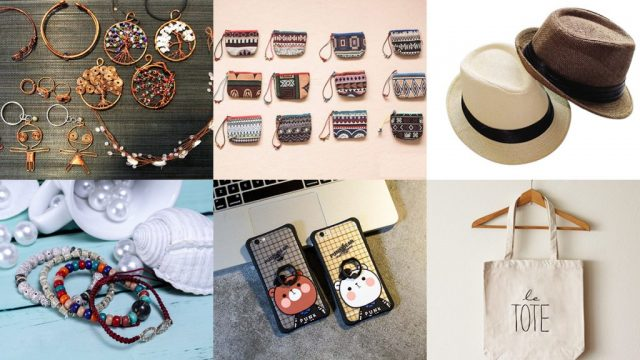 Nhiều đồ phụ kiện thời trang được bày bán tại chợ phiên Đà Nẵng