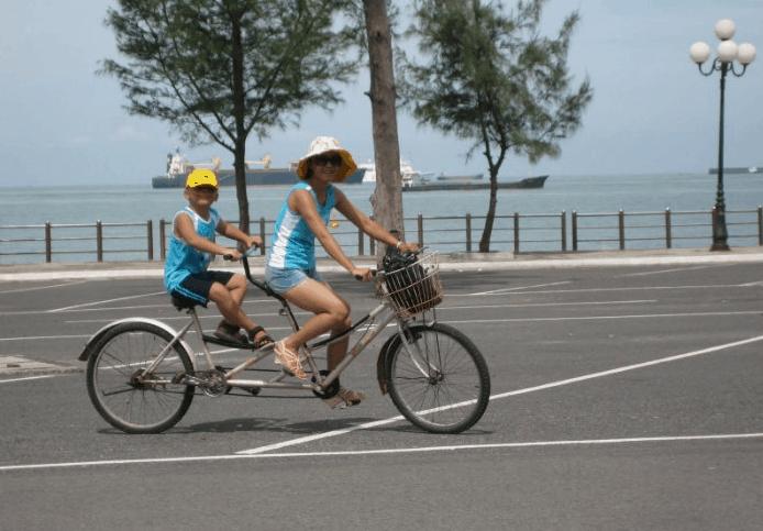 Thuê xe đạp để tiện cho chuyến du lịch Vũng Tàu 3 ngày 2 đêm