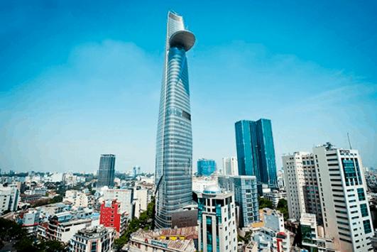 Vẻ đẹp của tòa tháp Bitexco (Ảnh ST)