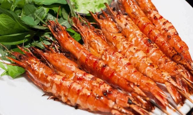 Tôm sát nướng muối ớt đặc sản vùng Cần Giờ