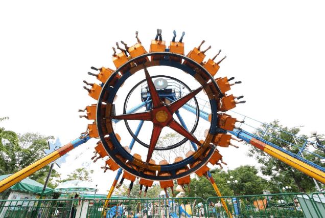 Trò chơi trong công viên Thỏ Trắng (Ảnh ST)