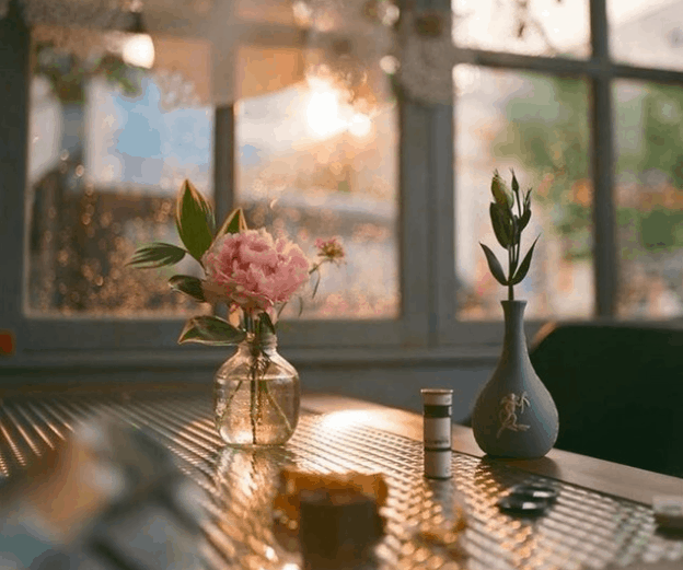 cafe đèn lồng