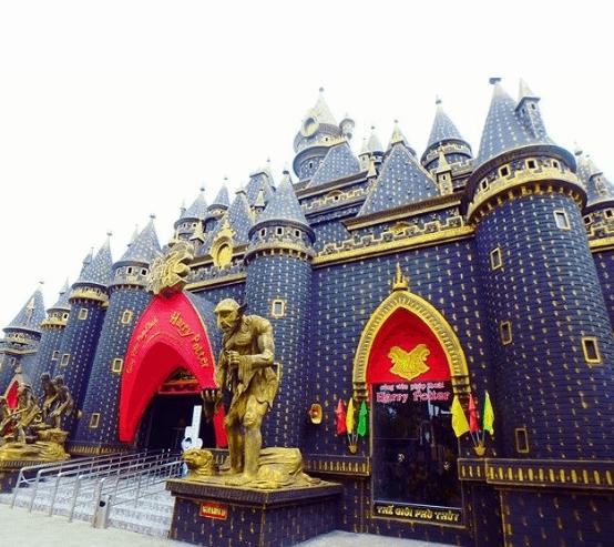 lâu đài phép thuật harry potter