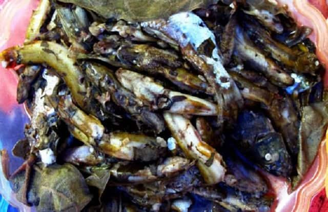 Cá bống vùi tro - món đặc sản thơm ngon của núi rừng Tây Bắc (Ảnh: ST)
