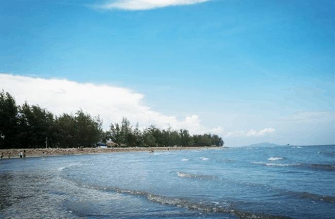 Bãi biển Cần Giờ sạch và hầu như không có rác