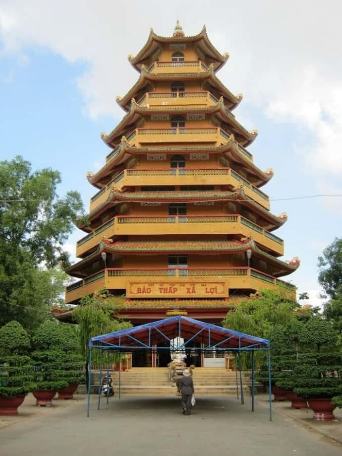 Hình ảnh bảo tháp Xá Lợi