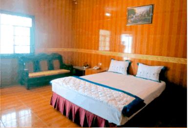 Phòng nghỉ đầy đủ tiện nghi của làng du lịch Chí Linh