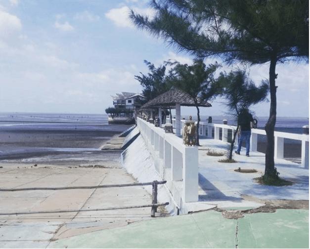 Đoạn đầu cầu Nam Hải Cần Giờ nhìn đã rất đẹp