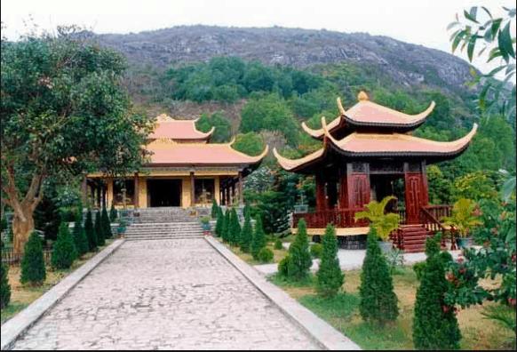 Thiền viện sau khi được xây dựng lại khá đẹp