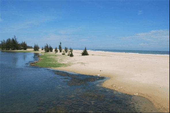 Phong cảnh biển Suối Ồ đẹp và trong lành