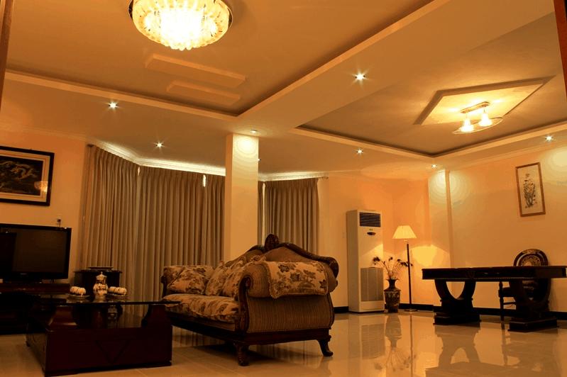 Phòng nghỉ có thiết kế cả phòng khách sang trọng