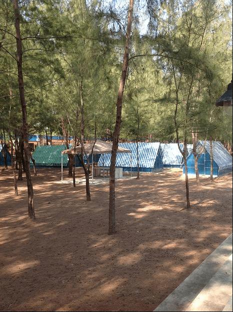 Khu cắm trại của làng du lịch Chí Linh