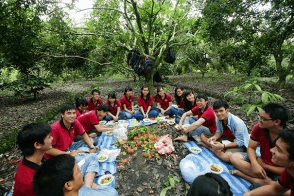 Bạn có thể cắm trại, picnic tại vườn trái cây Ông 8 Đạo