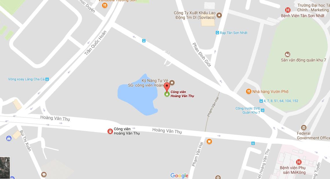 Bản đồ địa chỉ công viên Hoàng Văn Thụ, thành phố Hồ Chí Minh