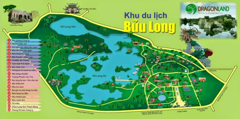 Bản đồ khu du lịch Bửu Long