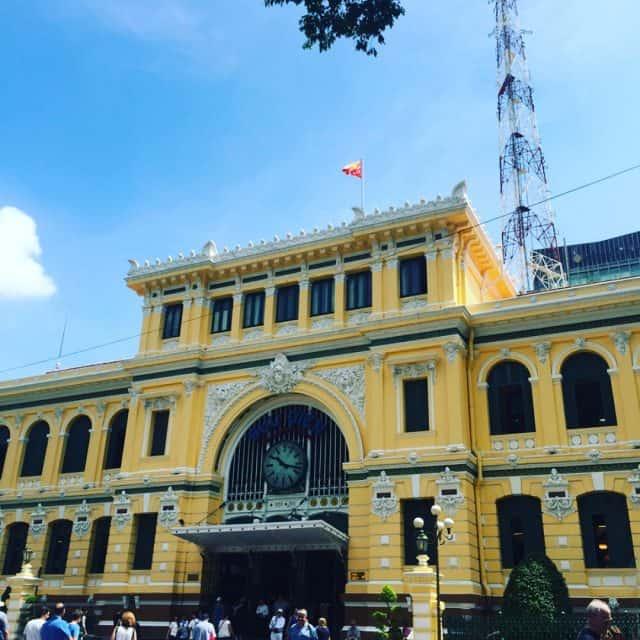 Hình ảnh kiến trúc bưu điện thành phố HCM