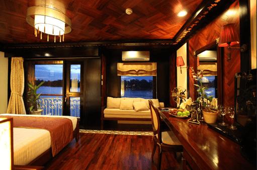 Cabin La Marguerite Cruise được thiết kế sang trọng, hiện đại