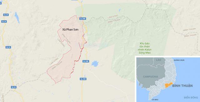 Đoạn đường cấm lưu thông từ Bình Thuận đi Lâm Đồng