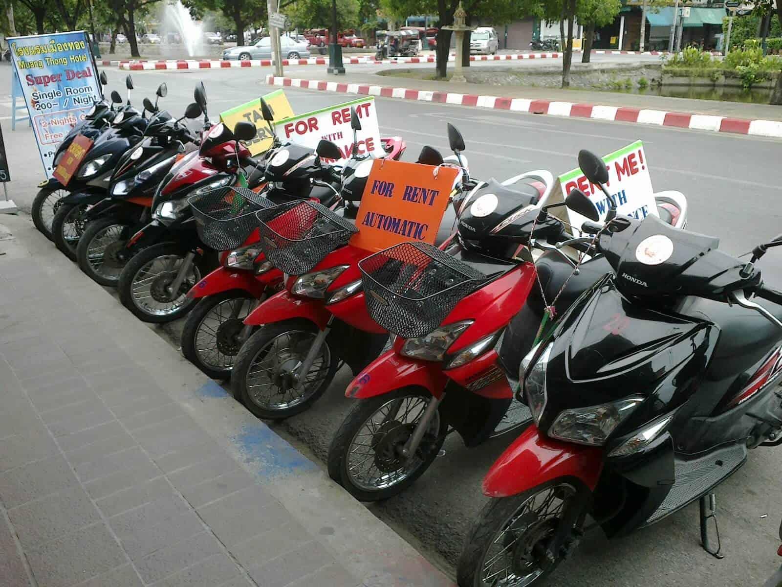 Các địa chỉ cho thuê xe máy ở Hà Nội
