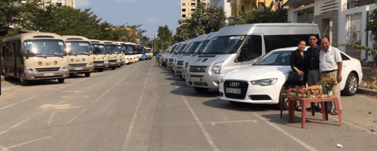 Công ty Vinh Linh cho thuê các dòng xe từ 4 đến 45 chỗ ngồi