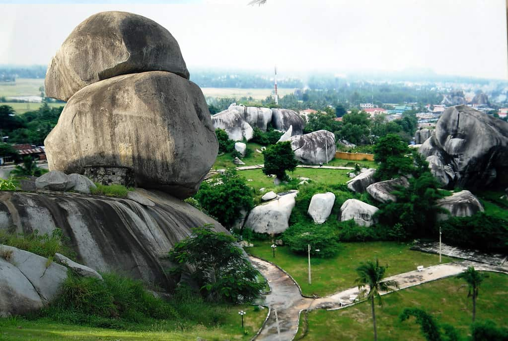 Super huge rocks lying on top of each other