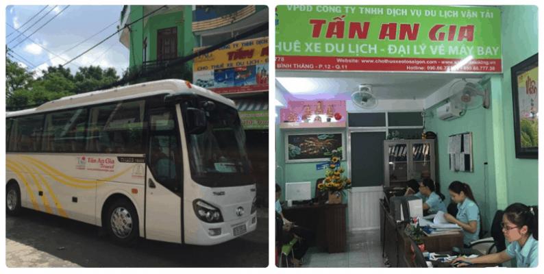 Du lịch vận tải Tấn An Gia chuyên cho thuê các xe đi du lich Sài Gòn