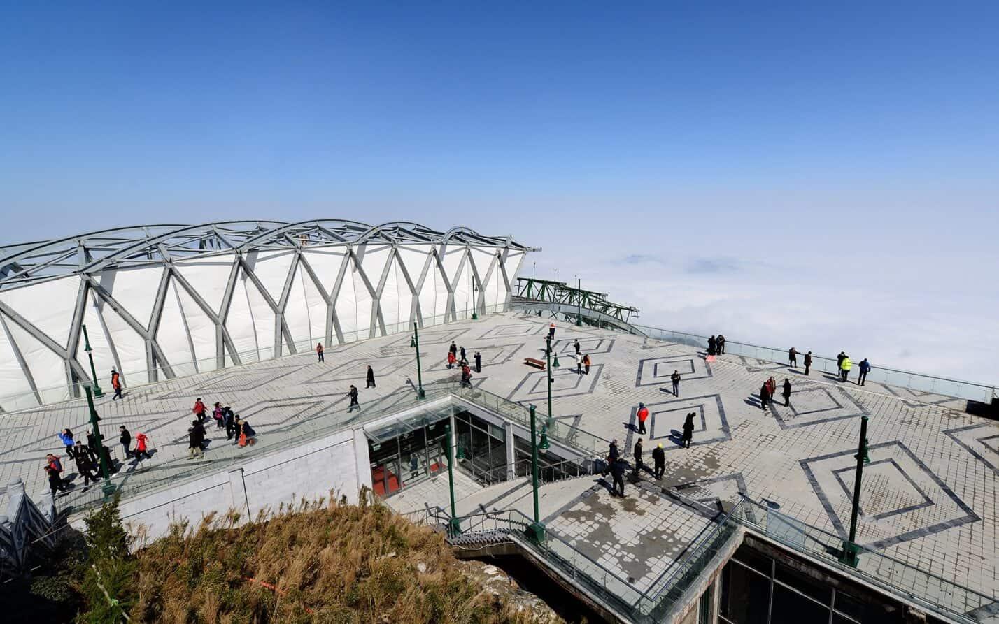 Nhà ga ở đỉnh Fansipan được thiết kế với không gian rộng mở