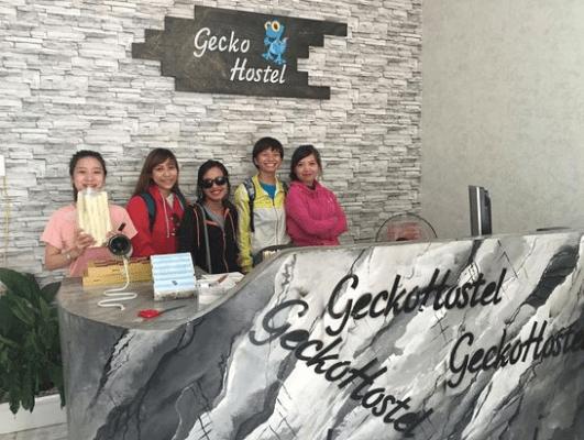 Gecko Hostel là điểm đến của nhiều nhóm du lịch với mức giá phù hợp