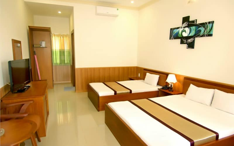 Phòng nghỉ đáp ứng đầy đủ tiện nghi