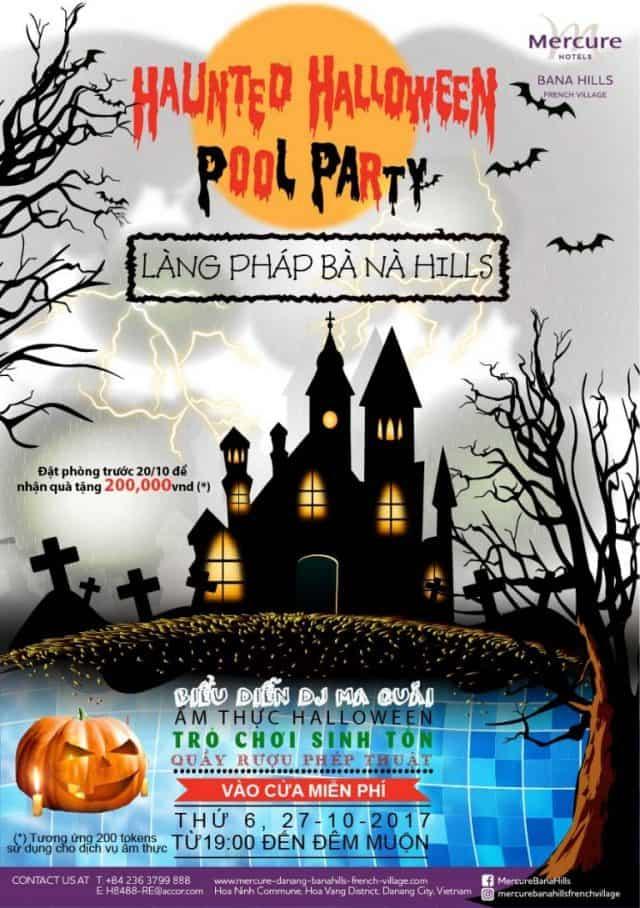 Trải nghiệm lễ hội Halloween kinh hoàng tại Làng Pháp Bà Nà Hills