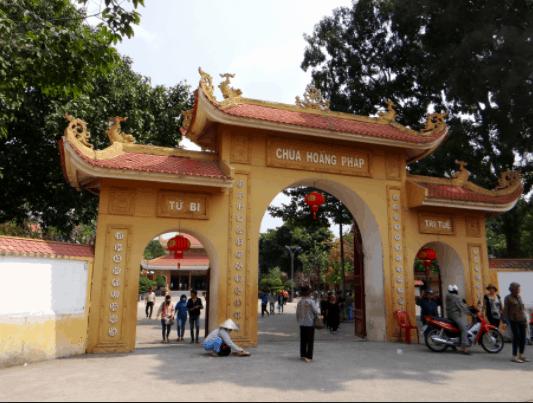Hình ảnh cổng chùa Hoằng Pháp