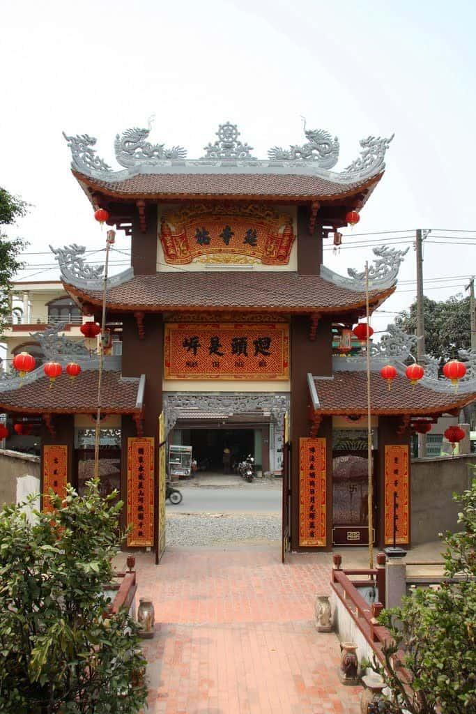 Hình ảnh cổng chùa Nam Thiên Nhất Trụ - Sài Gòn