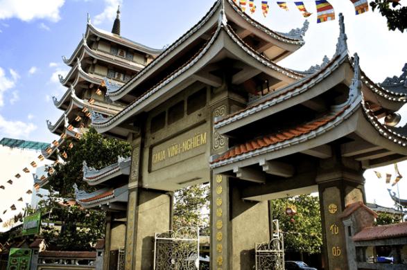 Hình ảnh cổng chùa Vĩnh Nghiêm