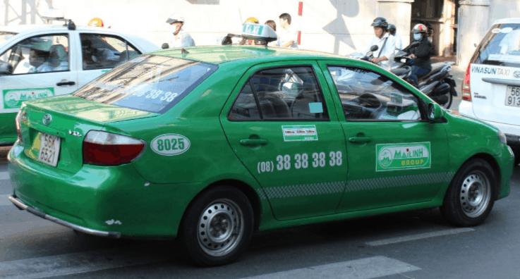 Hình ảnh hãng taxi Mai Linh