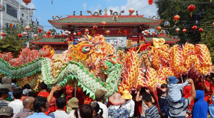 Hình ảnh lễ hội tại chùa Bà Thiên Hậu