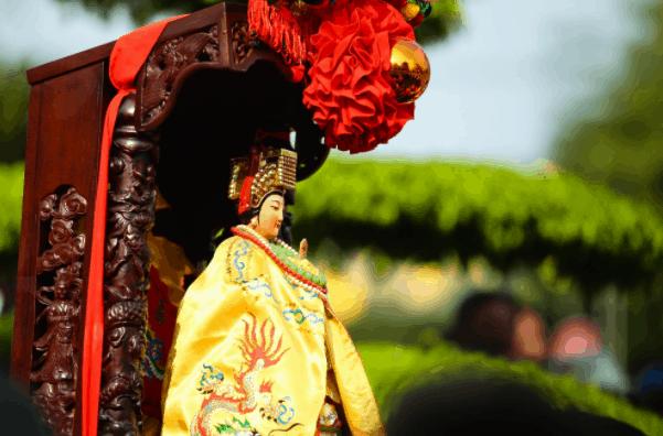 Hình ảnh rước Thiên Hậu Thánh Mẫu