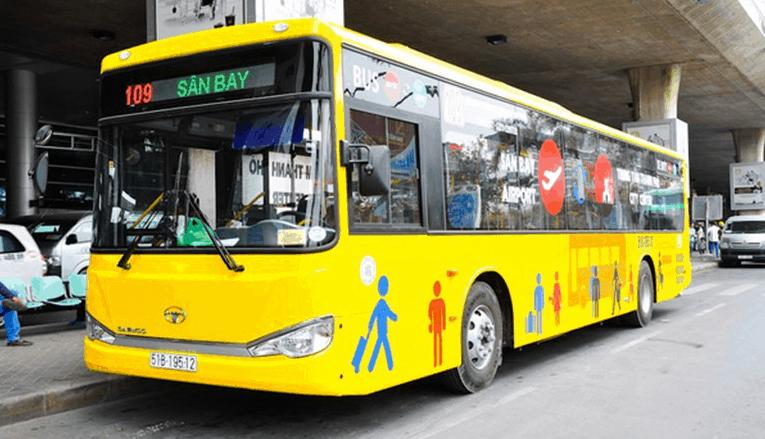 Hình ảnh tuyến xe buýt 109 tới sân bay Tân Sơn Nhất