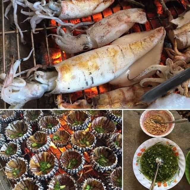 Những món hải sản tươi ngon, hấp dẫn