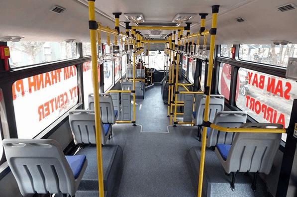 Hình ảnh không gian bên trong xe bus 109