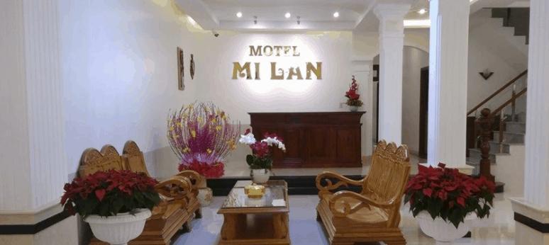 Không gian sảnh chính của Mi Lan Hotel