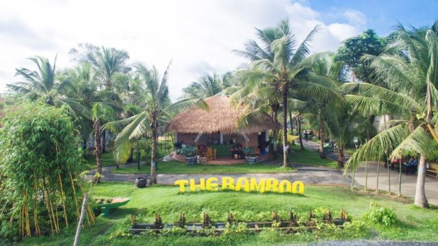 The green scenery of the resort