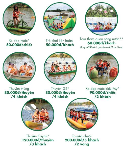 The resort's game price list