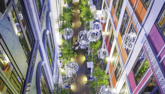 Lung linh sắc màu tại khu trung tâm Saigon Garden