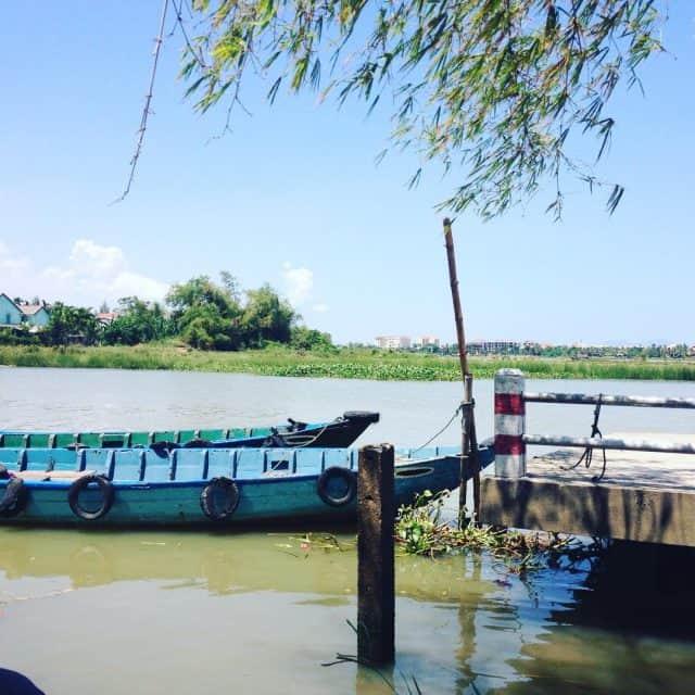 Làng Mộc Kim Bồng toạ lac ở hữu ngạn hạ lưu sông Thu Bồn chảy qua Hội An (Ảnh sưu tầm)